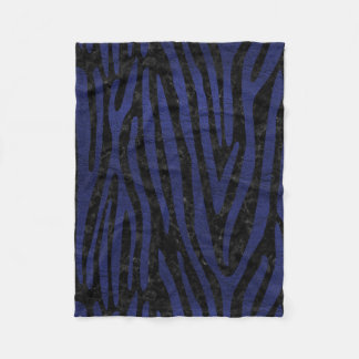 SKIN4 BLACK MARBLE & BLUE LEATHER (R) FLEECE BLANKET