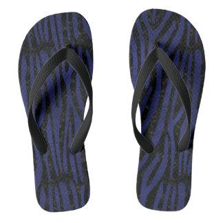 SKIN4 BLACK MARBLE & BLUE LEATHER (R) FLIP FLOPS