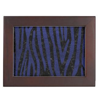 SKIN4 BLACK MARBLE & BLUE LEATHER (R) KEEPSAKE BOX
