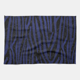SKIN4 BLACK MARBLE & BLUE LEATHER (R) KITCHEN TOWEL