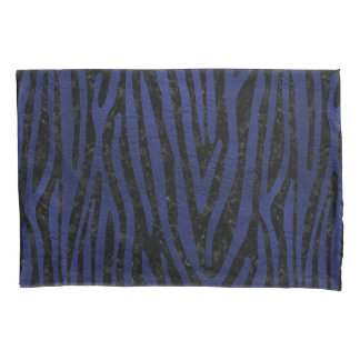 SKIN4 BLACK MARBLE & BLUE LEATHER (R) PILLOWCASE