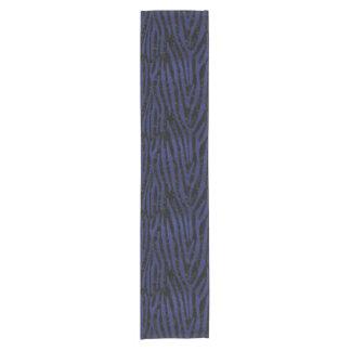 SKIN4 BLACK MARBLE & BLUE LEATHER (R) SHORT TABLE RUNNER