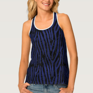 SKIN4 BLACK MARBLE & BLUE LEATHER (R) TANK TOP