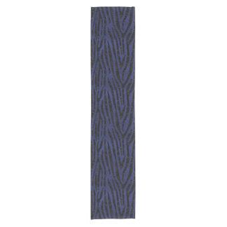 SKIN4 BLACK MARBLE & BLUE LEATHER SHORT TABLE RUNNER