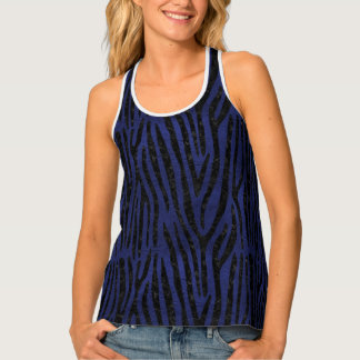 SKIN4 BLACK MARBLE & BLUE LEATHER TANK TOP