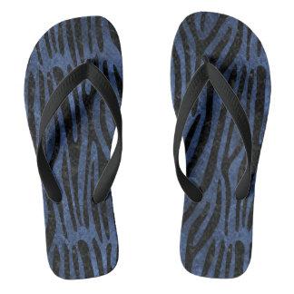 SKIN4 BLACK MARBLE & BLUE STONE FLIP FLOPS