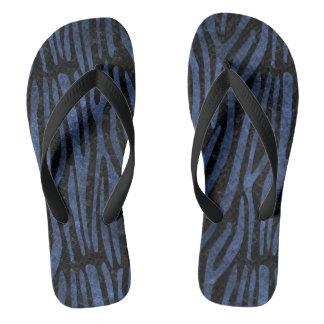 SKIN4 BLACK MARBLE & BLUE STONE (R) FLIP FLOPS