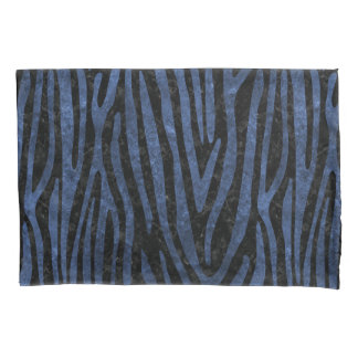 SKIN4 BLACK MARBLE & BLUE STONE (R) PILLOWCASE