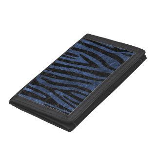 SKIN4 BLACK MARBLE & BLUE STONE TRI-FOLD WALLET