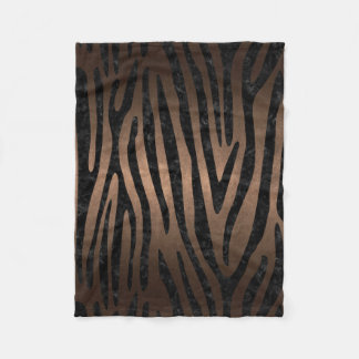 SKIN4 BLACK MARBLE & BRONZE METAL FLEECE BLANKET