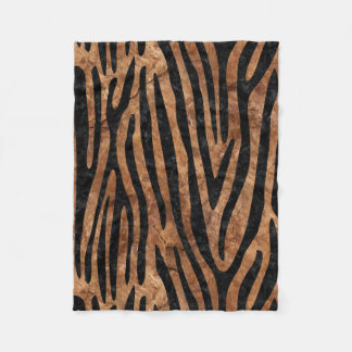 SKIN4 BLACK MARBLE & BROWN STONE FLEECE BLANKET
