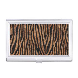 SKIN4 BLACK MARBLE & BROWN STONE (R) BUSINESS CARD HOLDER