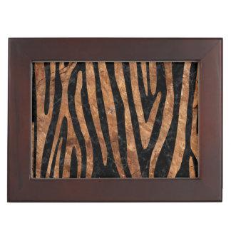 SKIN4 BLACK MARBLE & BROWN STONE (R) KEEPSAKE BOX