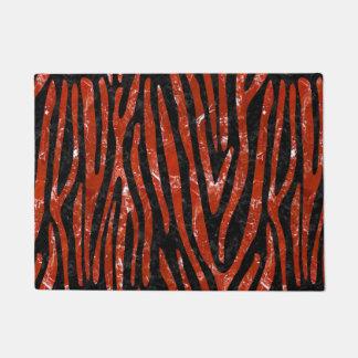SKIN4 BLACK MARBLE & RED MARBLE (R) DOORMAT