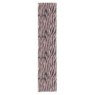 SKIN4 BLACK MARBLE & RED & WHITE MARBLE (R) SHORT TABLE RUNNER