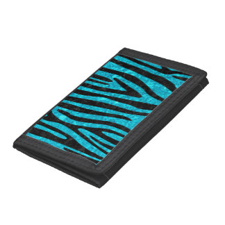 SKIN4 BLACK MARBLE & TURQUOISE MARBLE TRIFOLD WALLETS