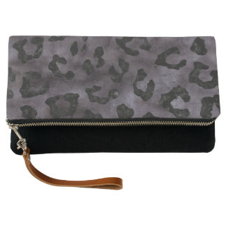 SKIN5 BLACK MARBLE & BLACK WATERCOLOR CLUTCH