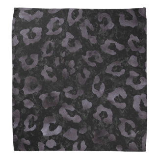 SKIN5 BLACK MARBLE & BLACK WATERCOLOR (R) BANDANA