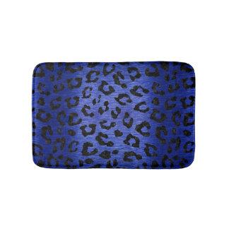 SKIN5 BLACK MARBLE & BLUE BRUSHED METAL BATH MAT