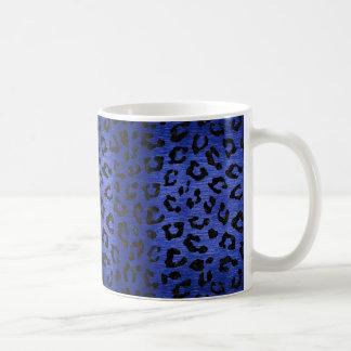 SKIN5 BLACK MARBLE & BLUE BRUSHED METAL COFFEE MUG