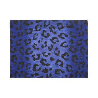 SKIN5 BLACK MARBLE & BLUE BRUSHED METAL DOORMAT