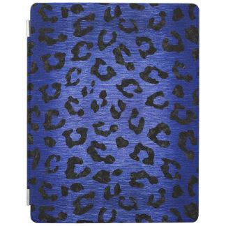 SKIN5 BLACK MARBLE & BLUE BRUSHED METAL iPad COVER