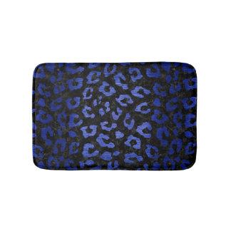 SKIN5 BLACK MARBLE & BLUE BRUSHED METAL (R) BATH MAT