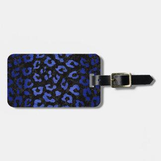 SKIN5 BLACK MARBLE & BLUE BRUSHED METAL (R) LUGGAGE TAG