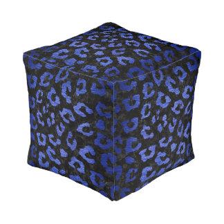 SKIN5 BLACK MARBLE & BLUE BRUSHED METAL (R) POUF