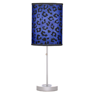 SKIN5 BLACK MARBLE & BLUE BRUSHED METAL TABLE LAMP