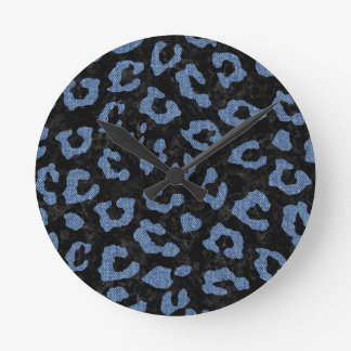 SKIN5 BLACK MARBLE & BLUE DENIM (R) ROUND CLOCK