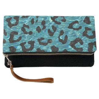 SKIN5 BLACK MARBLE & BLUE-GREEN WATER CLUTCH