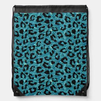 SKIN5 BLACK MARBLE & BLUE-GREEN WATER DRAWSTRING BAG