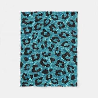 SKIN5 BLACK MARBLE & BLUE-GREEN WATER FLEECE BLANKET