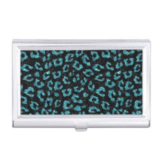 SKIN5 BLACK MARBLE & BLUE-GREEN WATER (R) BUSINESS CARD HOLDER