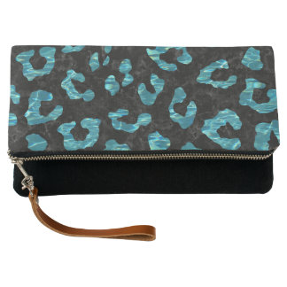 SKIN5 BLACK MARBLE & BLUE-GREEN WATER (R) CLUTCH