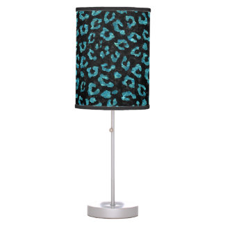 SKIN5 BLACK MARBLE & BLUE-GREEN WATER (R) TABLE LAMP