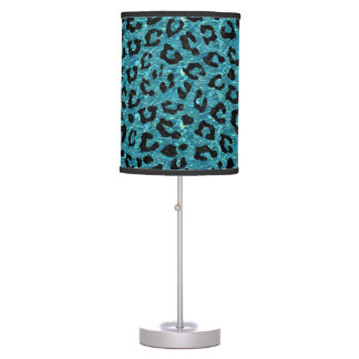 SKIN5 BLACK MARBLE & BLUE-GREEN WATER TABLE LAMP