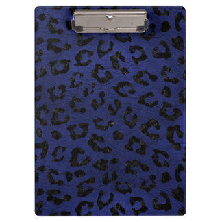 SKIN5 BLACK MARBLE & BLUE LEATHER CLIPBOARD