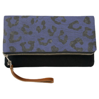 SKIN5 BLACK MARBLE & BLUE LEATHER CLUTCH
