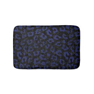 SKIN5 BLACK MARBLE & BLUE LEATHER (R) BATH MAT