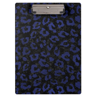 SKIN5 BLACK MARBLE & BLUE LEATHER (R) CLIPBOARD