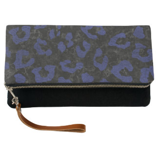 SKIN5 BLACK MARBLE & BLUE LEATHER (R) CLUTCH