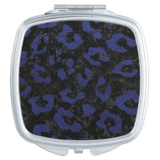 SKIN5 BLACK MARBLE & BLUE LEATHER (R) MIRROR FOR MAKEUP