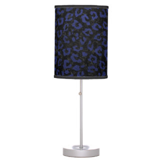 SKIN5 BLACK MARBLE & BLUE LEATHER (R) TABLE LAMP