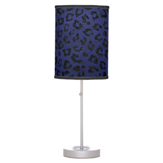 SKIN5 BLACK MARBLE & BLUE LEATHER TABLE LAMP