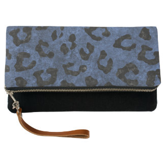 SKIN5 BLACK MARBLE & BLUE STONE CLUTCH