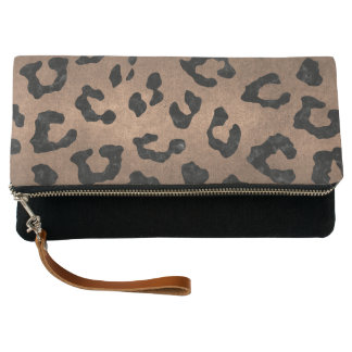SKIN5 BLACK MARBLE & BRONZE METAL CLUTCH