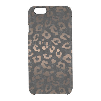 SKIN5 BLACK MARBLE & BRONZE METAL (R) CLEAR iPhone 6/6S CASE