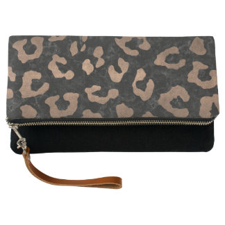 SKIN5 BLACK MARBLE & BRONZE METAL (R) CLUTCH